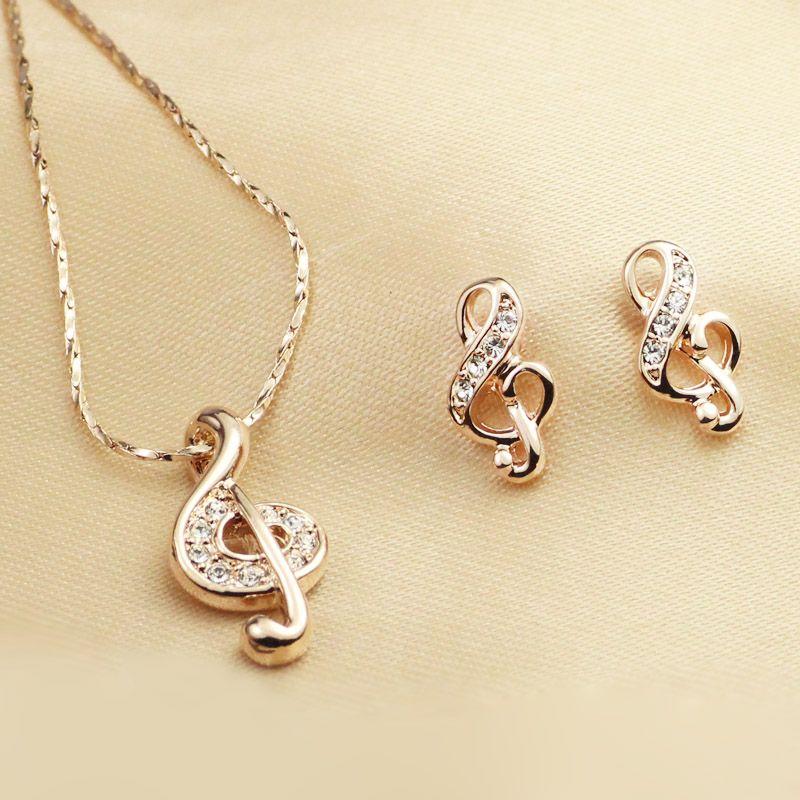 Free Shipping fashion jewelry set hot Italina Rigant Rose Gold
