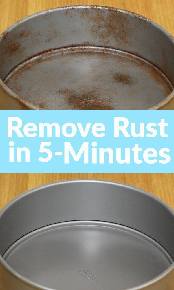 Diy Rust Removal With Two Simple Ingredients Cleaning