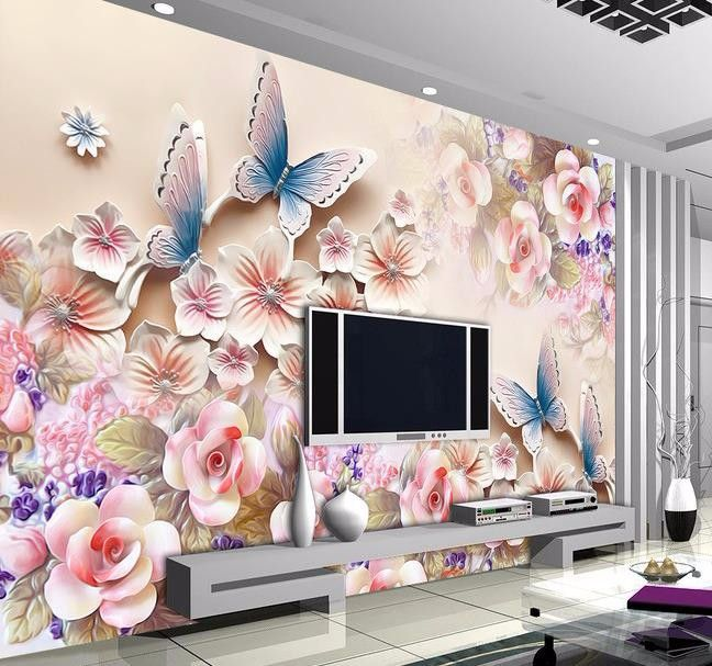 3d Papel De Parede Custom Photo Hd Flowers Relief 3d Mural For Interior Decoration Wall 3d Wallpaper Free Shipping Wall Tapestry Bedroom 3d Wall Murals Mural