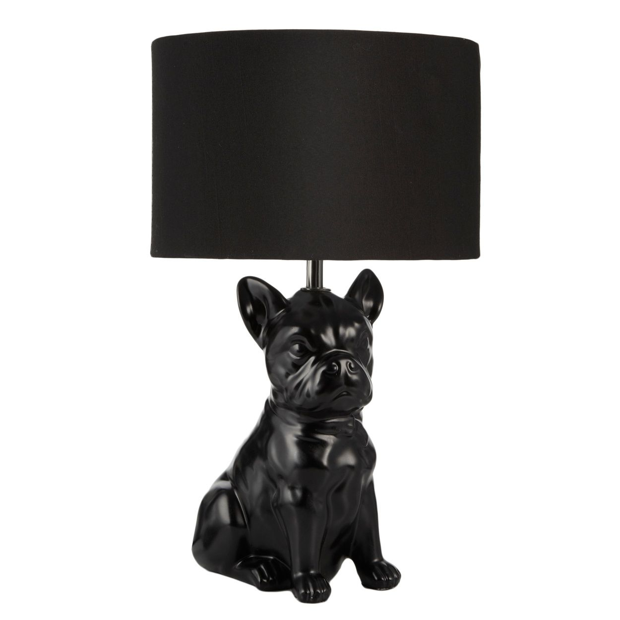 Ben de lisi black dog table lamp at debenhams com
