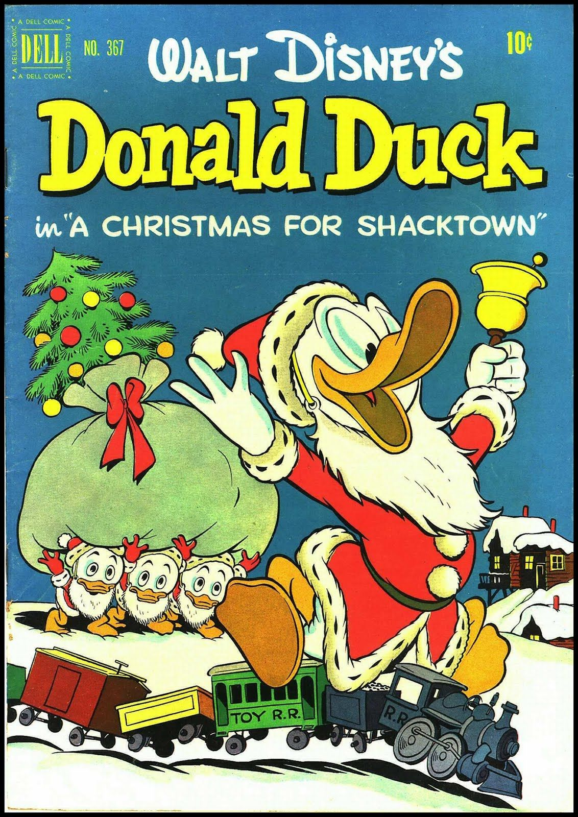 Donald Duck A Christmas for Shacktown, art and story by