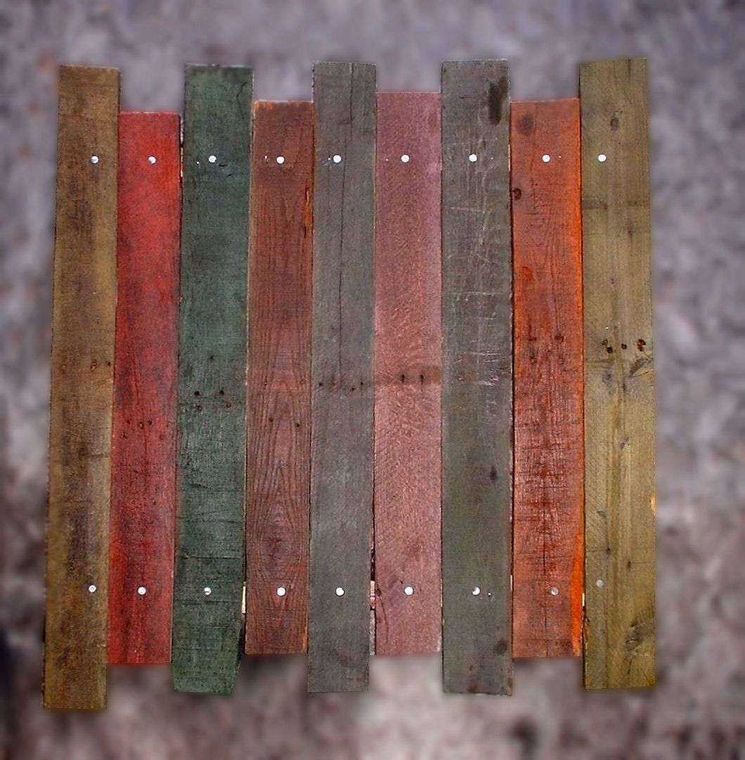 Distressed Industrial Decor Painted Pallet Board Wall Art ...