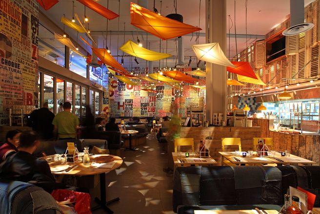 Cabana is a new brazilian restaurant designed by michaelis