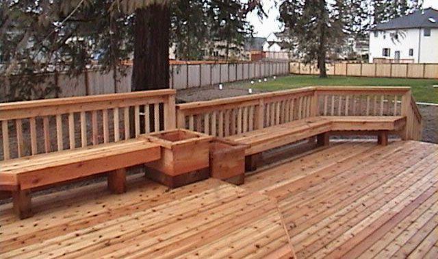 Benches | Custom Cedar Benches | Composite Benches | Deck Benches