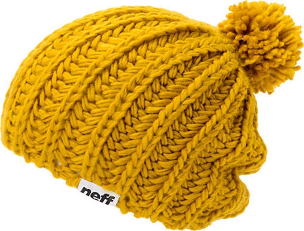 Neff Curse Gorro de punto de lana con pompón para mujer niña  8c7ced16107