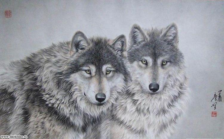 Gallery.ru / Фото #24 - волки в живописи - ninmix ...