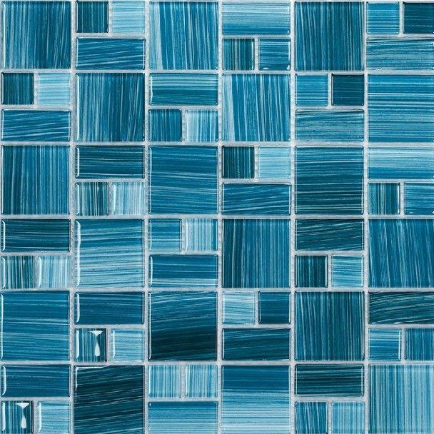 Sky Blue Glass Mosaic Tiles Kitchen Backsplash Bathroom Living Room Wall
