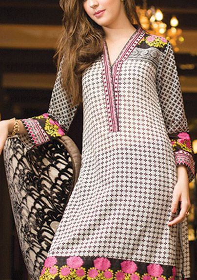 Buy Embroidered Cotton Lawn Kurti by Orient Embroidered Kurti Collection Vol.II 2015.