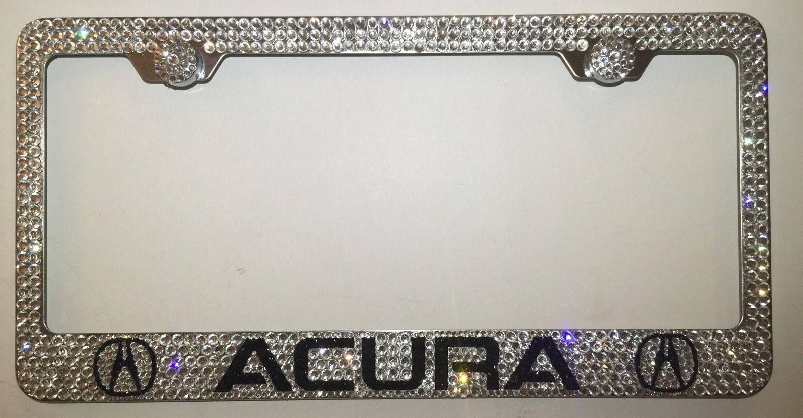 Acura W Logo Stainless Steel license plate frame W Swarovski ...