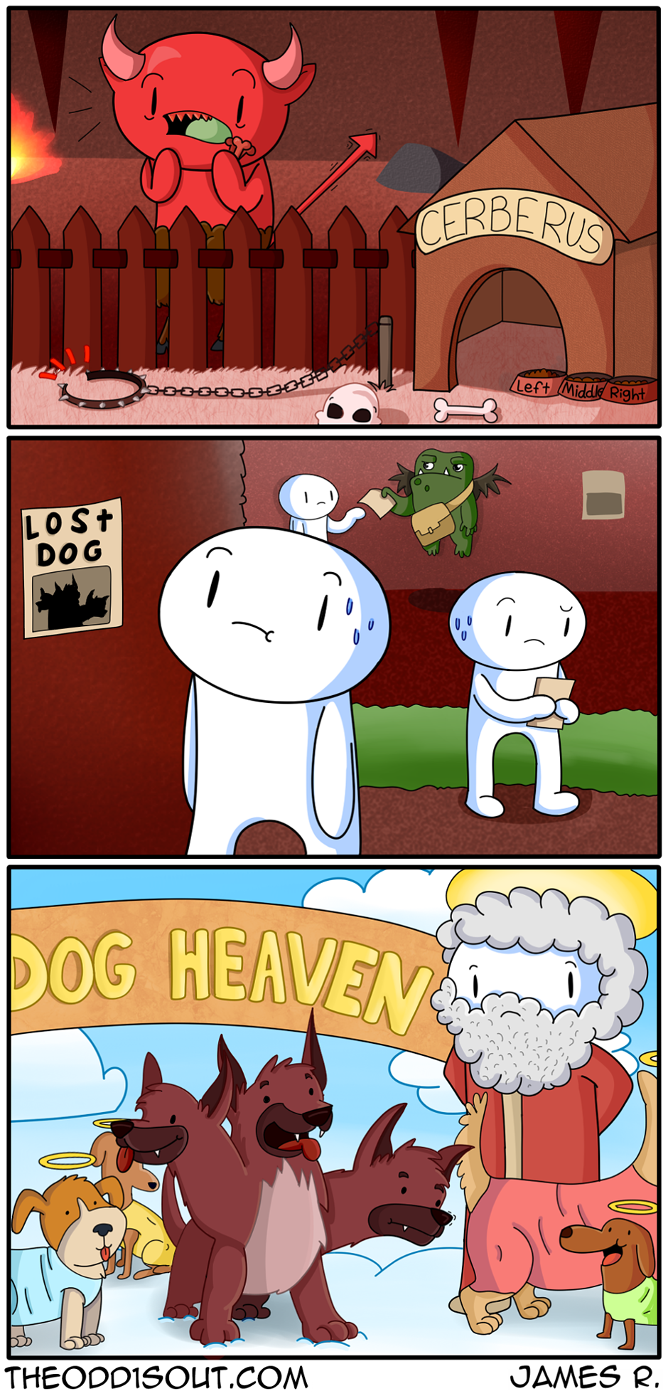 Cerberus Goes Missing The Odd 1 S Out Funny Comic Strips