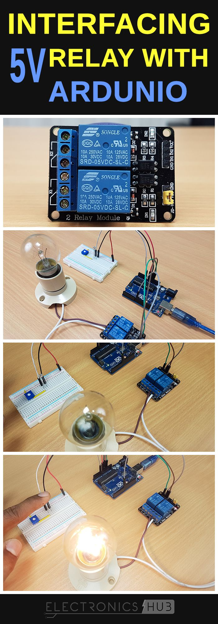 How To Use 5v Relay On Arduino Projects And Real World Wire Diagram Control System More