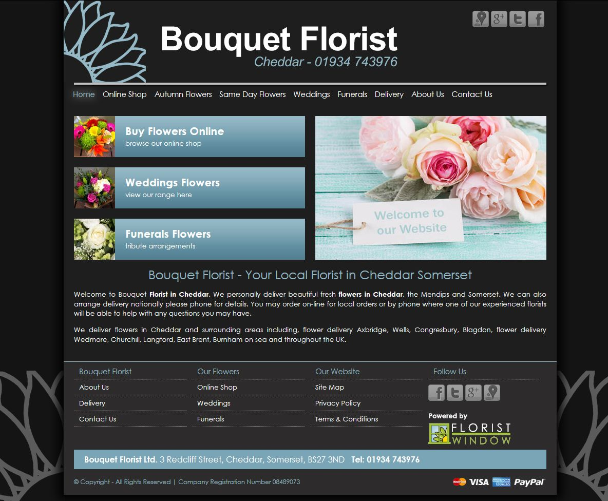 Bouquet florist in cheddar somerset this is their new