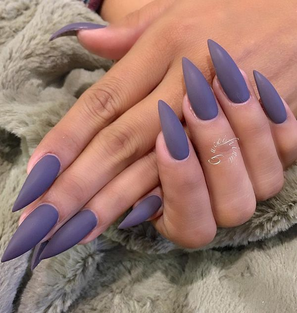 60 Dark Nails for Winter | Almond nails, Short nails and Manicure