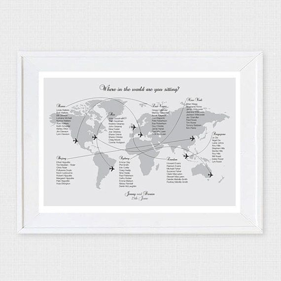 Where in the world are you sitting? Show your guests to their - wedding plans