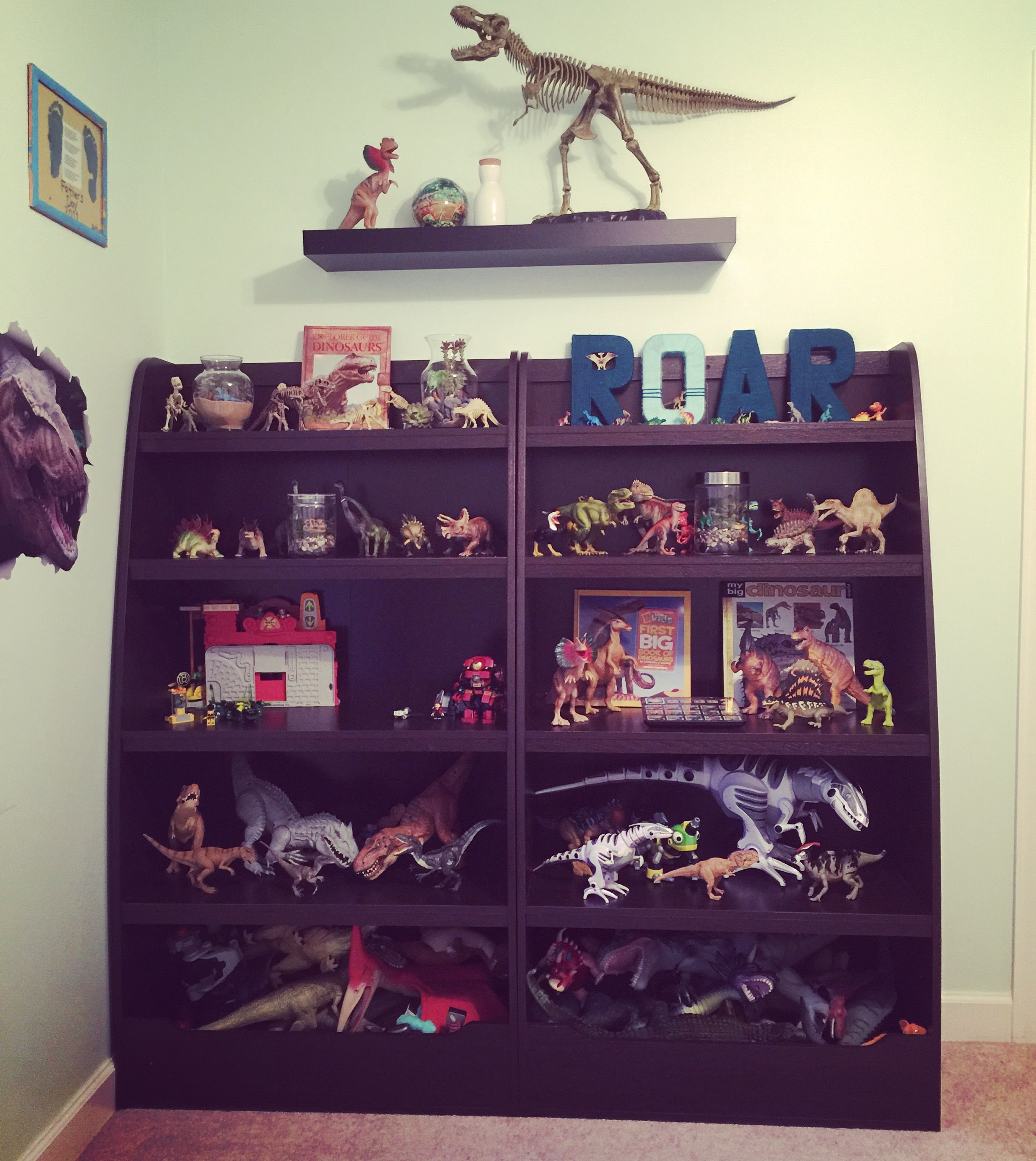 "Dinosaur ""museum"" in my little paleontologist s room Boys room"