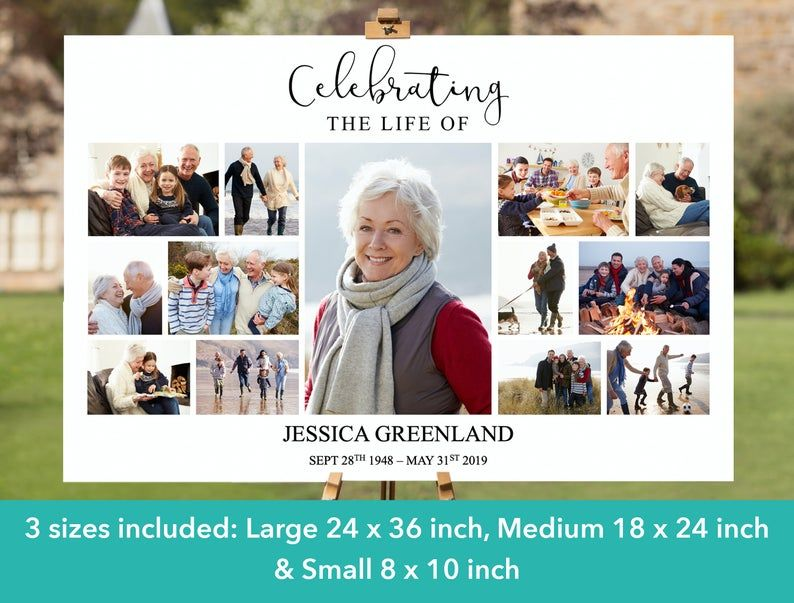 photo collage life poster funeral posters