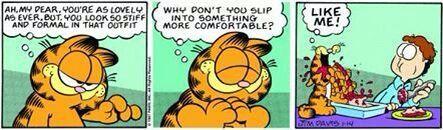 Garfield Eating Lasagne Comic Strips Garfield Comics Garfield
