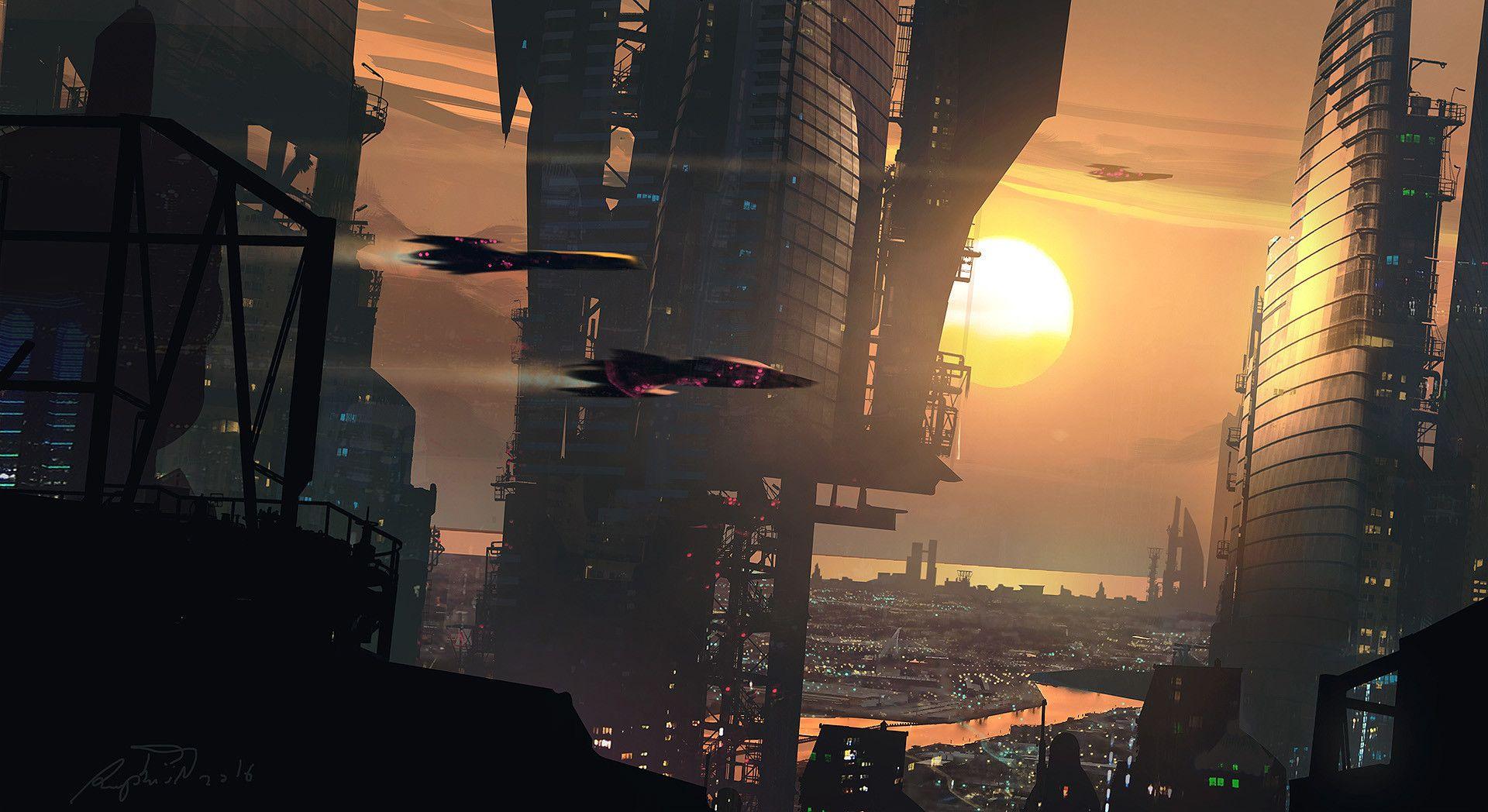 ArtStation - Sunset City / Warm Up, Raphael Lacoste