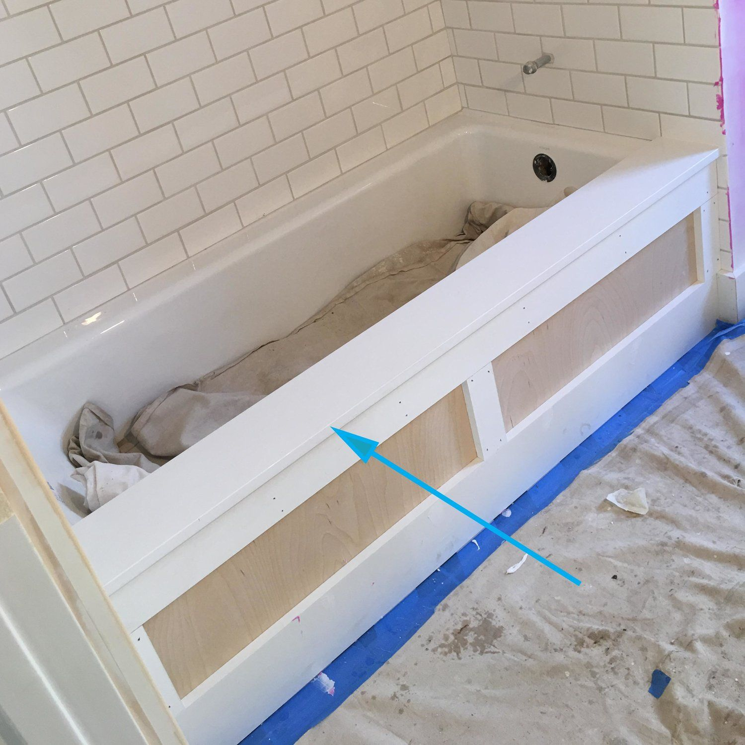 Remodeling Bathroom While Pregnant our inexpensive tub trick | bath tubs, tubs and lancing f.c.