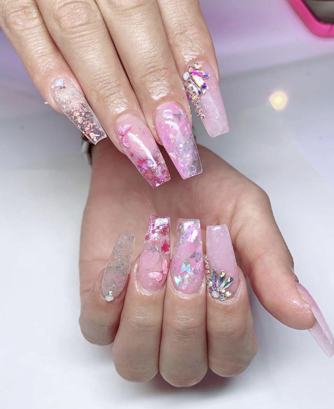Pretty In Pink Nails : pretty, nails, Pretty, Nails, Nails,