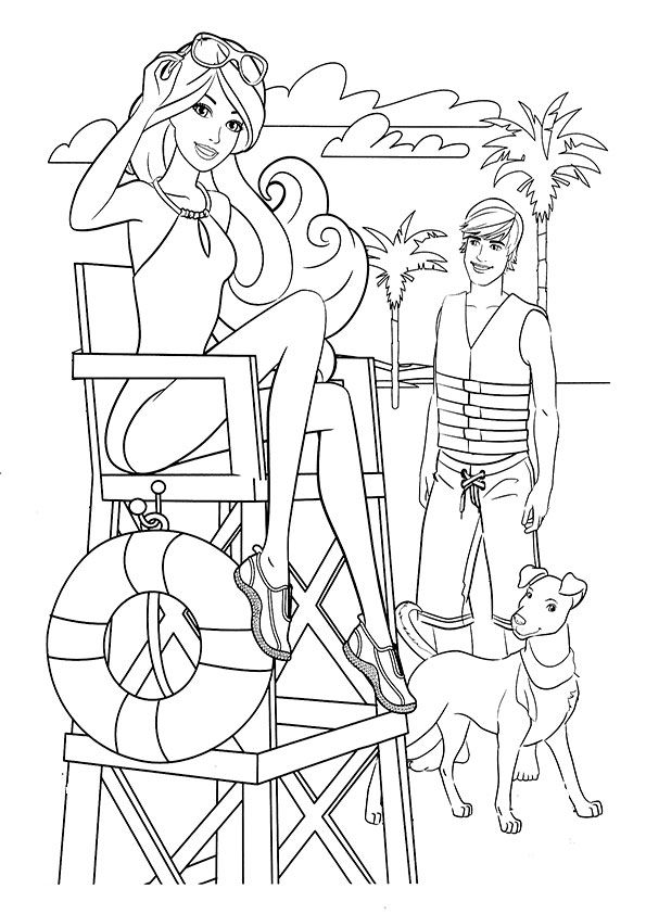 ausmalbilder barbie mit ken-19 | Free printable coloring | Pinterest ...