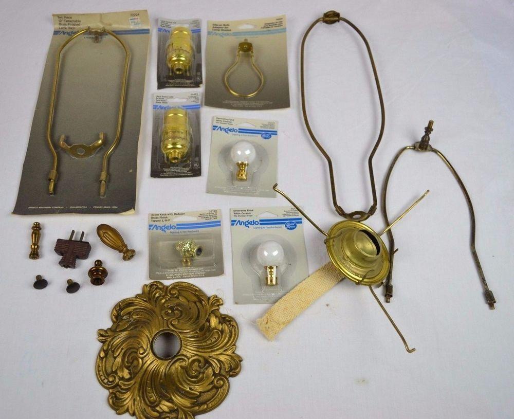 Details About Vintage Lamp Parts Angelo Eagle More Antique