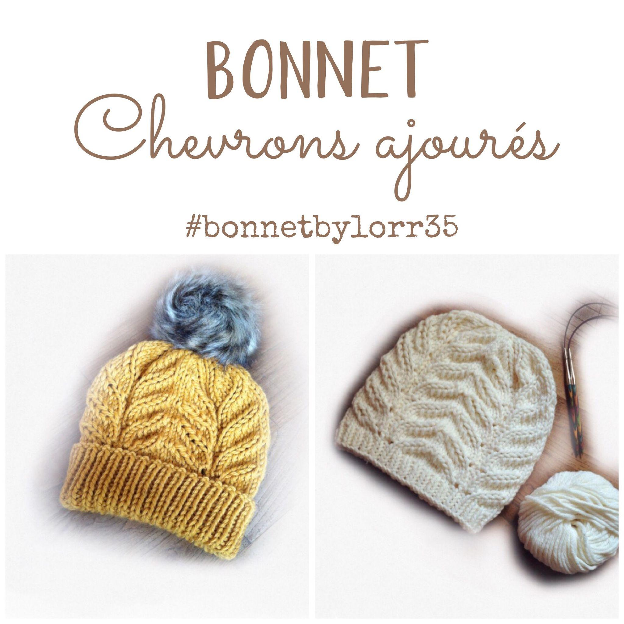 70dd92ee044 Mon Tuto du bonnet à chevrons ajourés - DIY By Lorr35