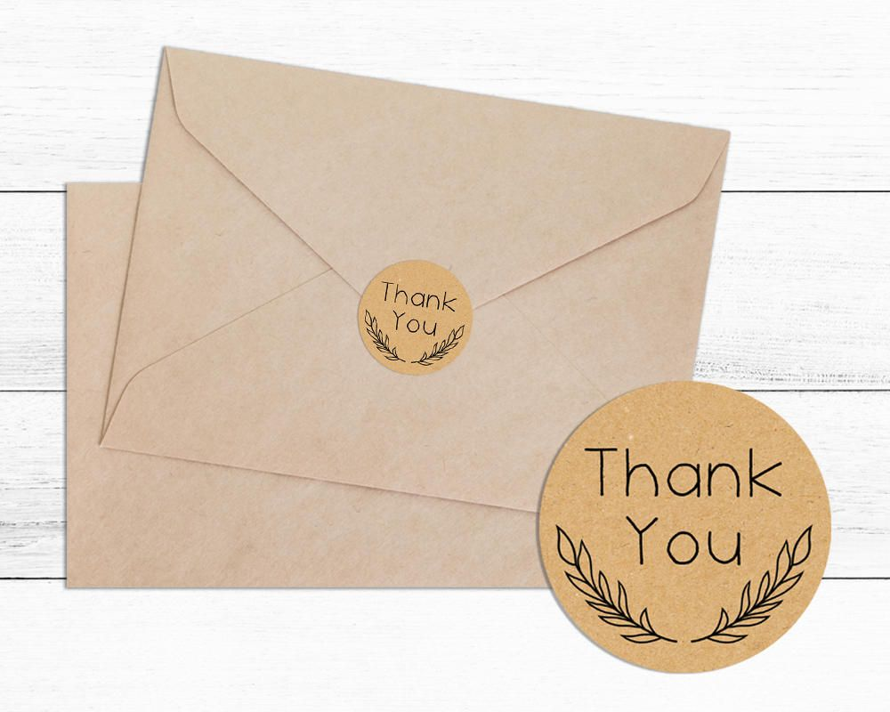 Round personalised Wedding Engagement labels stickers for envelopes bags etc