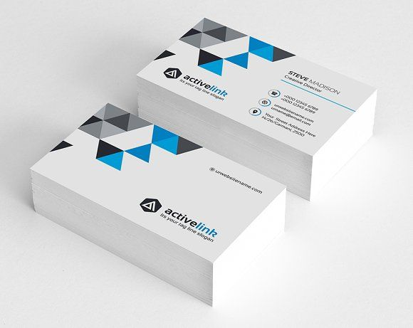 This Business Card Design Is Based On Corporate Style The Style Is