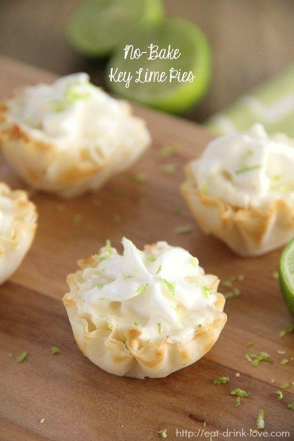 No-Bake Key Lime Pies - Ein einfaches No-Bake-Dessert für den Sommer! Diese mundgerechten Sch... N