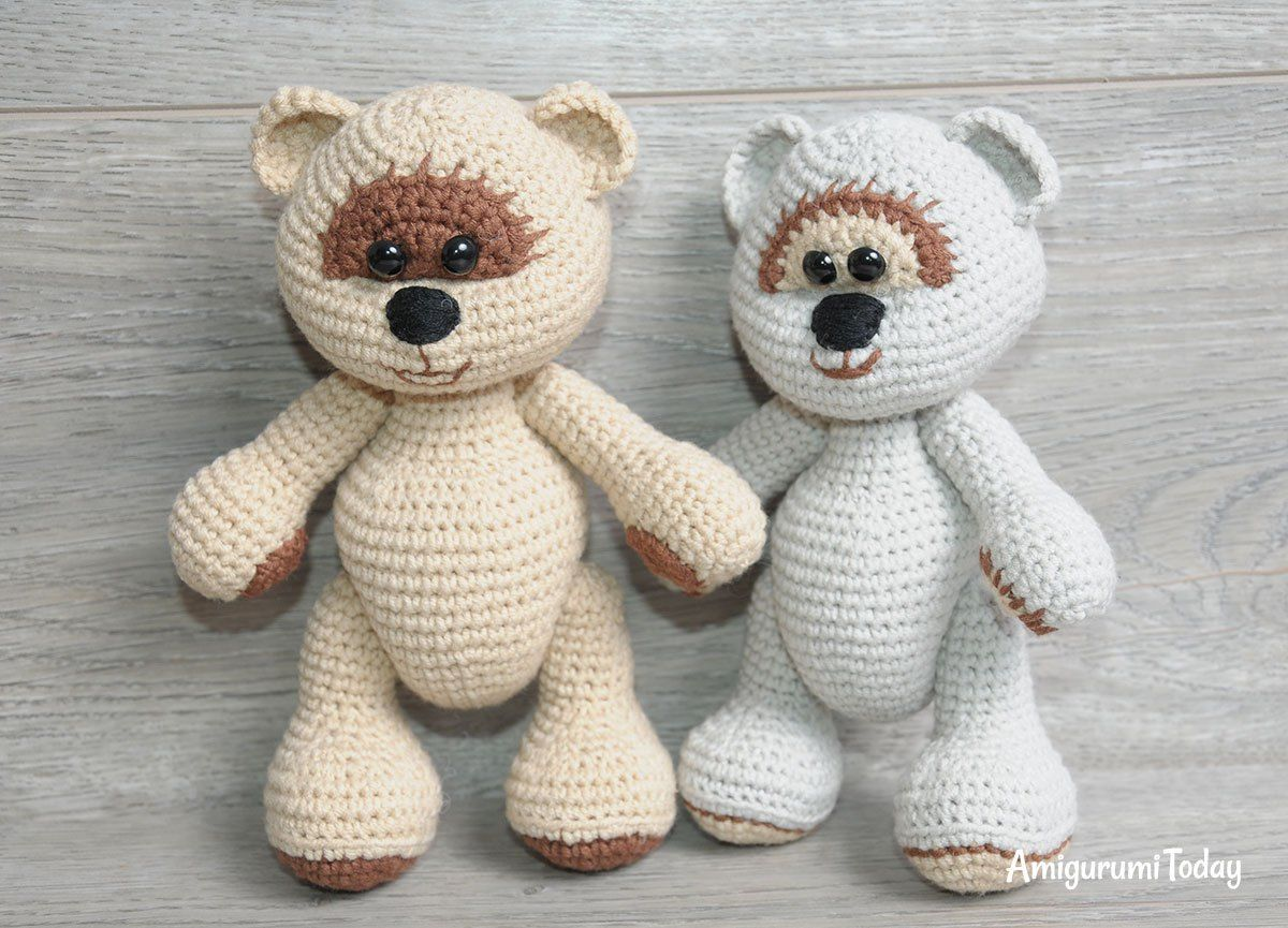 Honey teddy bears in love: crochet pattern | Patrones de crochet ...