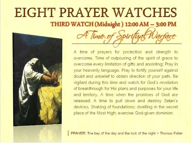 This Board Is About The Prayers Of The 3rd Watch 12am 3am