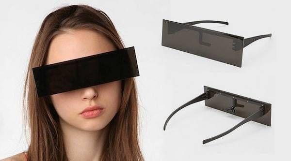 Censored sunglasses.