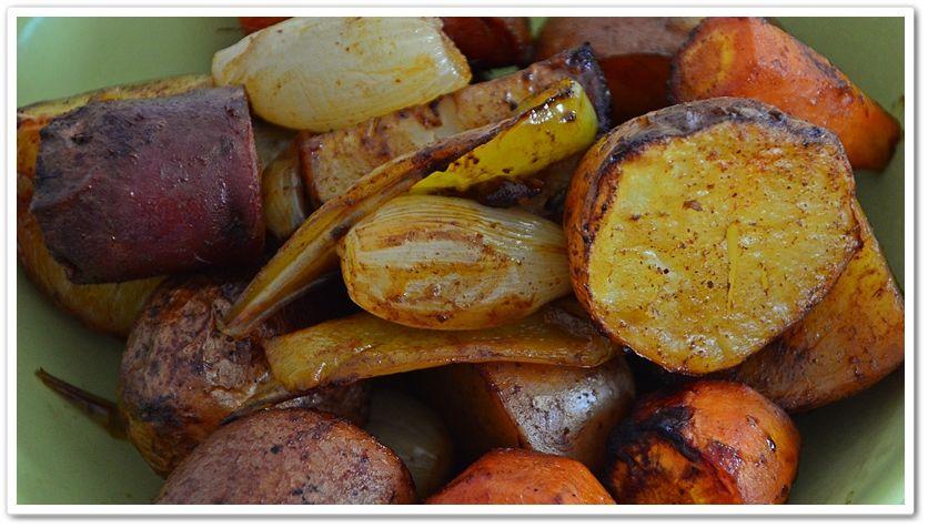 Legumes assados caramelizados