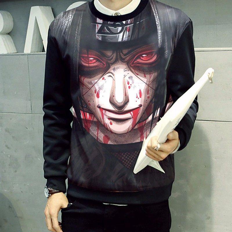 71 Best Naruto Merchandise Images On Pinterest: Itachi Uchiha Dark Face Bloody 3D Dope Sweatshirt