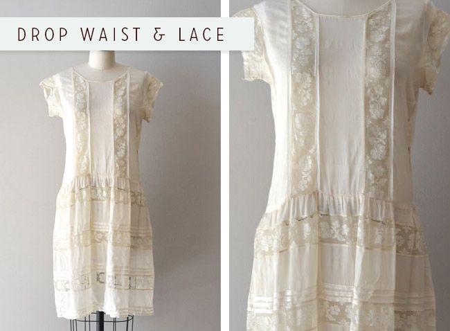701910b9a8b3 Detail Inspiration  Drop waist   lace (or why I love 1920s fashion ...
