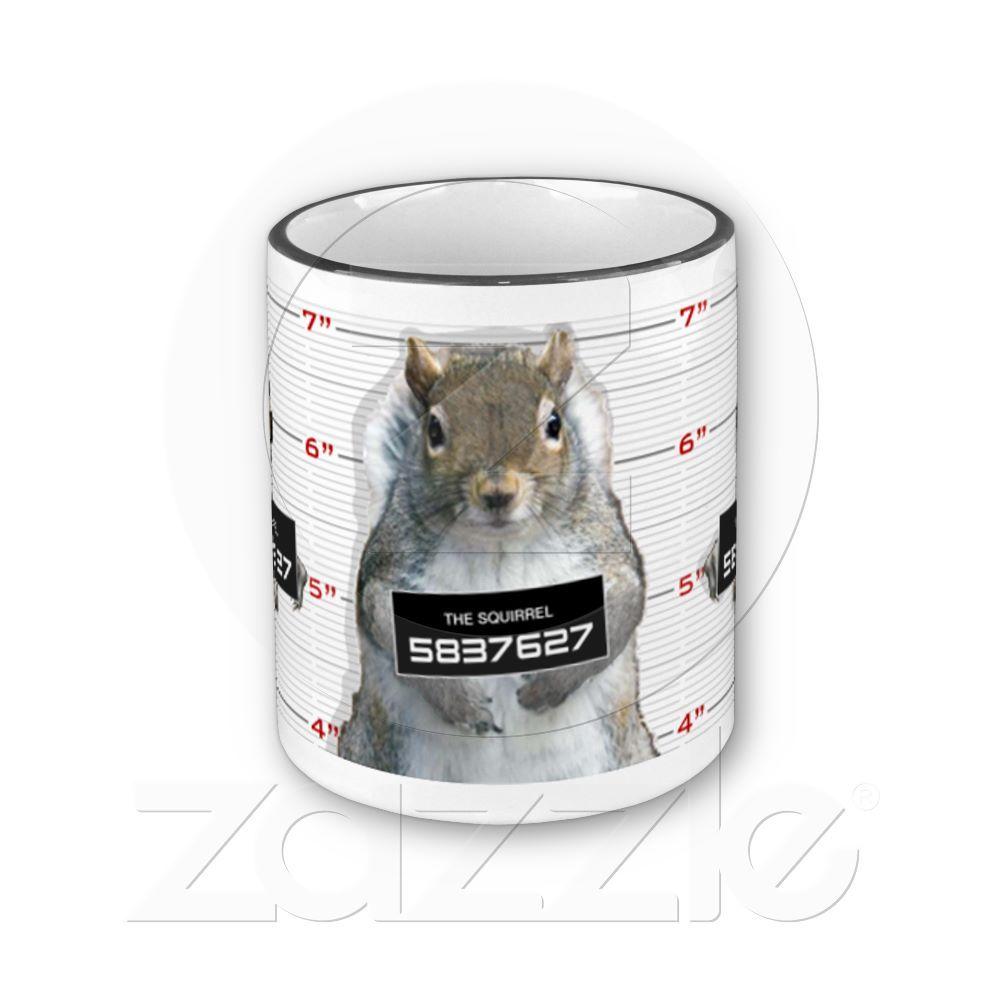 Squirrel Mug Shot Mugs, Mug shots, Squirrel