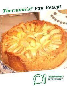 Apfelkuchen-mit Sahne Puddingguss #applepie