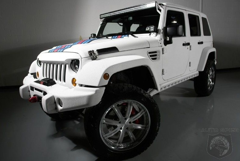 Most Expensive Wrangler In The World With A 6 4 Liter Hemi And 16 Inch Brakes Love Martini Racing Stripe
