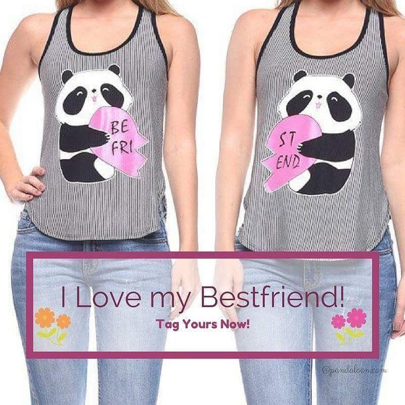 c4357b9c1c404 Panda Bear Best Friends Tank Tops (Set of 2)   Panda T-Shirts for ...