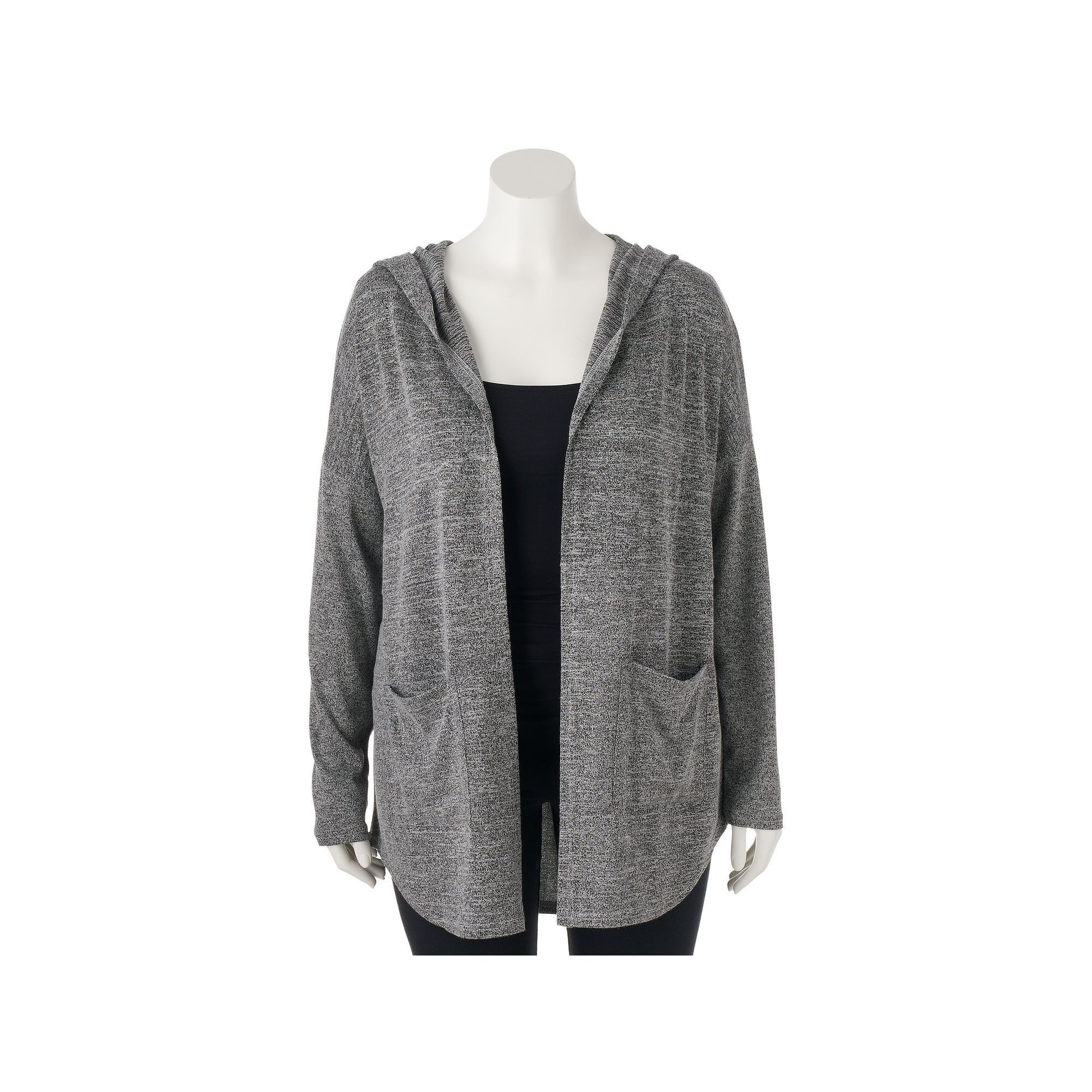 Juniors' Plus Size Mudd® Hooded Cardigan, Teens, Size: 2XL, Med ...