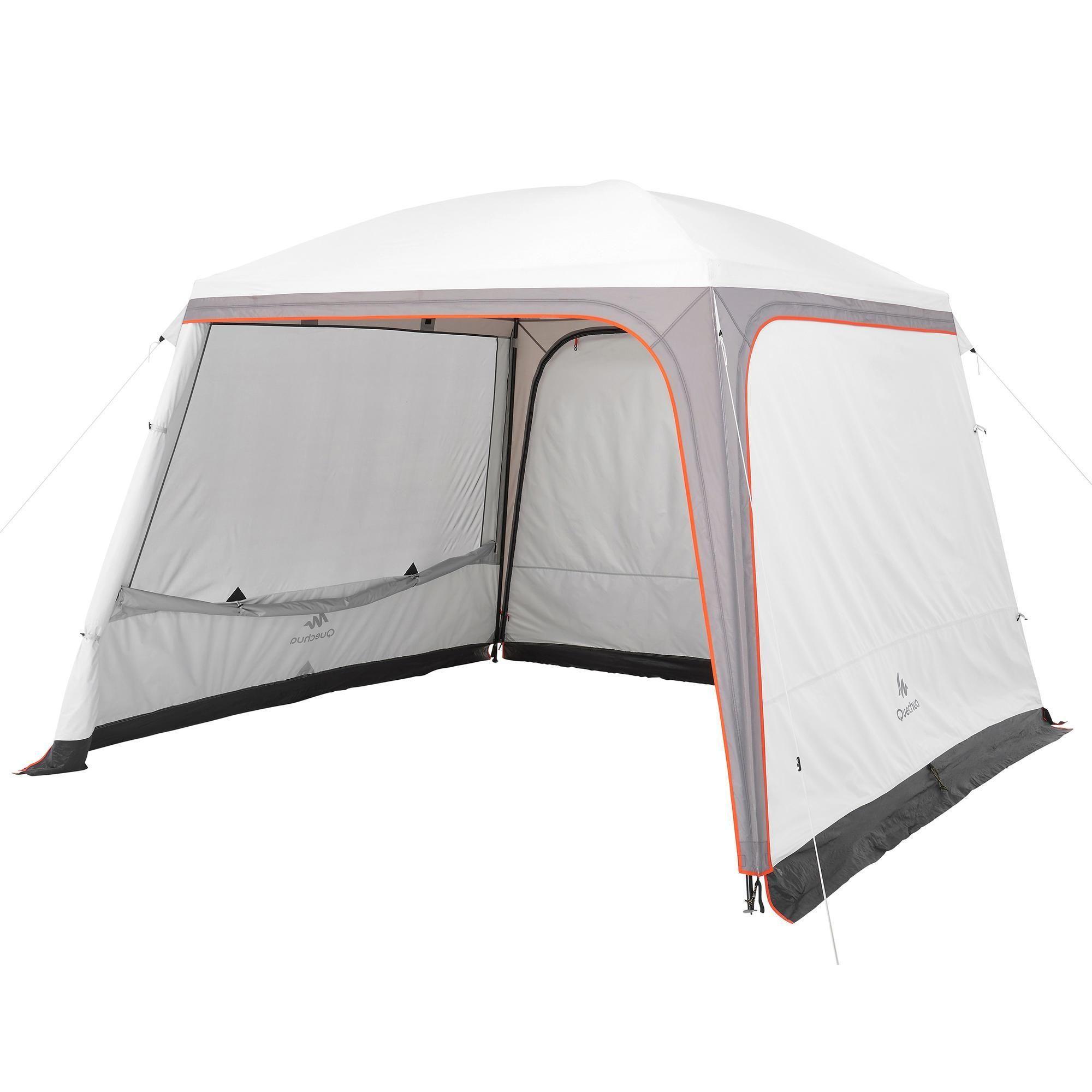 Decathlon Quechua Quechua Pavillon Arpenaz 3 3 M Turen 10 Personen Camping Lsf 50 Freshblack Weiss 3608 Camping Pavillon Camping Zelt Camping
