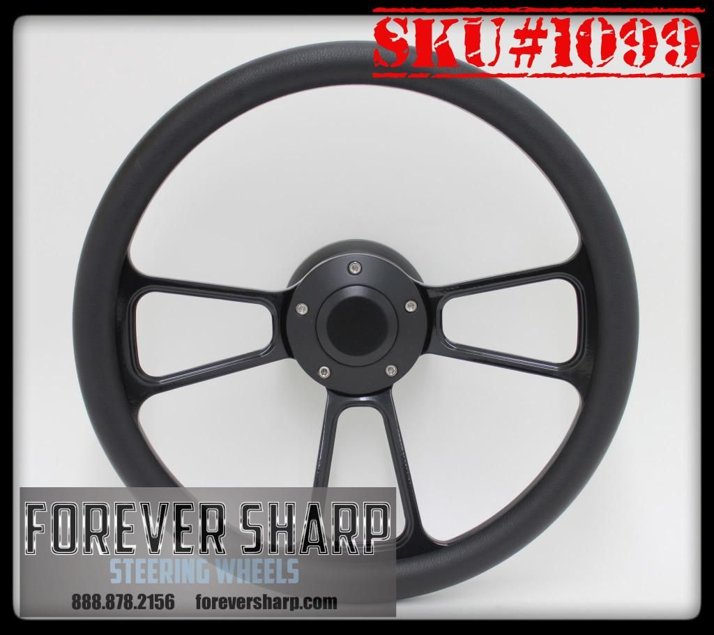 Forever sharp all black muscle wheel