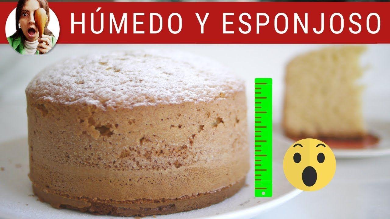 Bizcochuelo Casero Alto Y Esponjoso Tarta De Chocolate Facil Receta De Biscochuelo Casero Receta De Torta