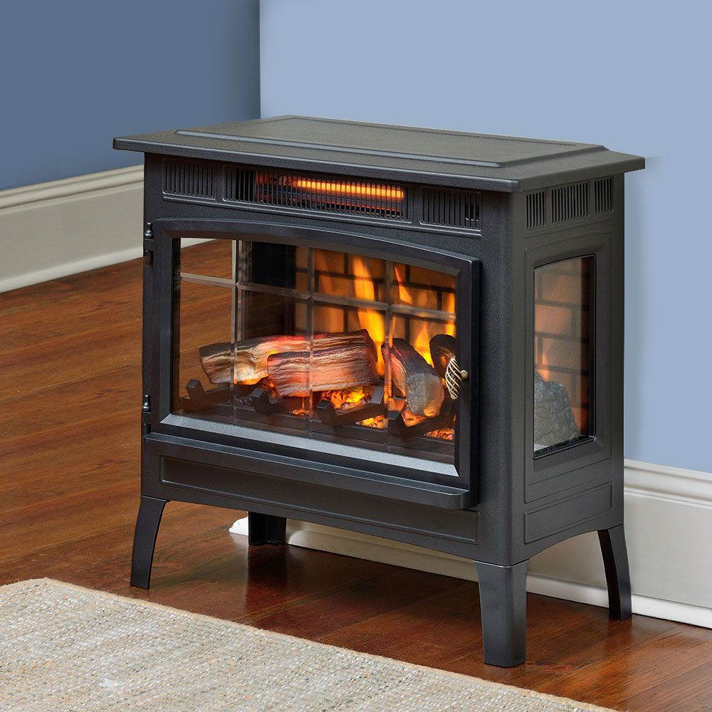 Duraflame 5010 3d Black Infrared Freestanding Stove Dfi 5010 01 Duraflame Portable Electric Fireplace Stove Fireplace Electric Fireplace