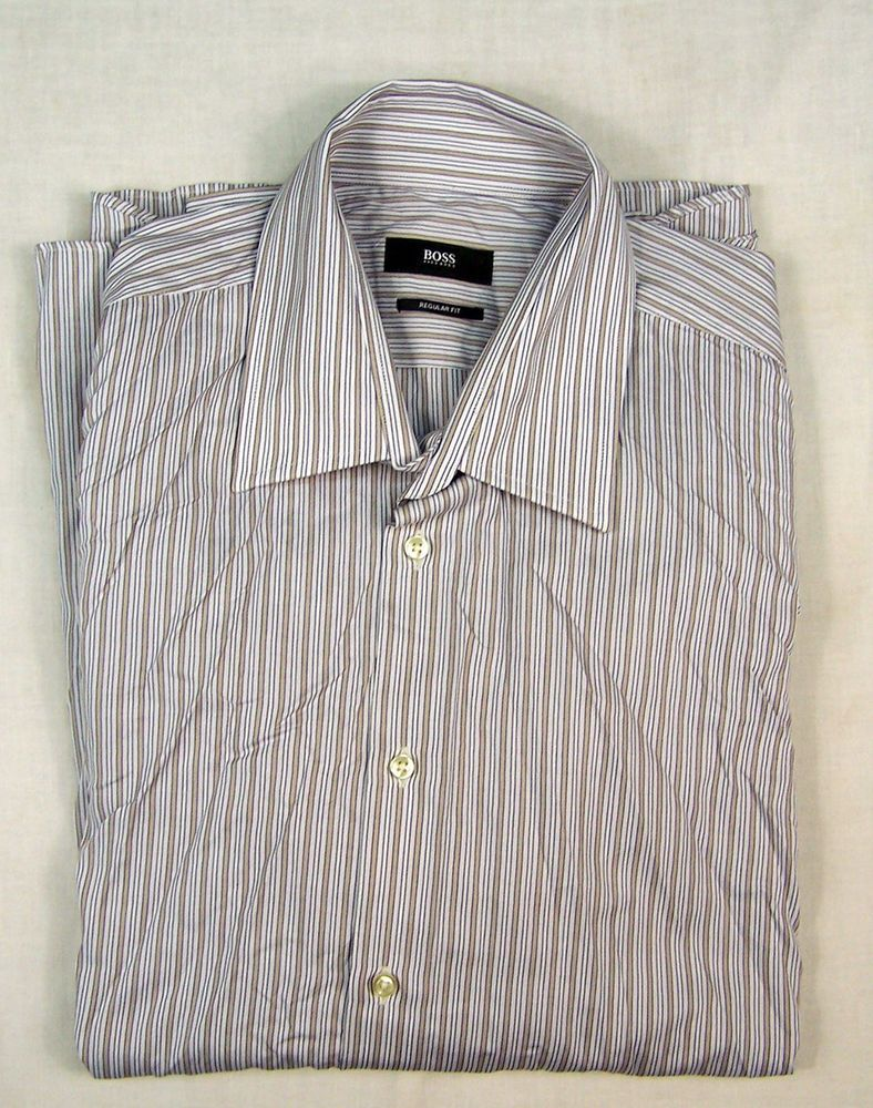 53be07c1 HUGO BOSS MENS REGULAR FIT SHIRT Size 43 / 17 #fashion #clothing #shoes  #accessories #mensclothing #shirts (ebay link)