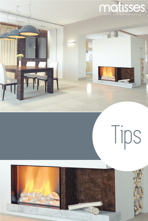 Tips para decorar un living con chimenea: la chimenea puede estar ...