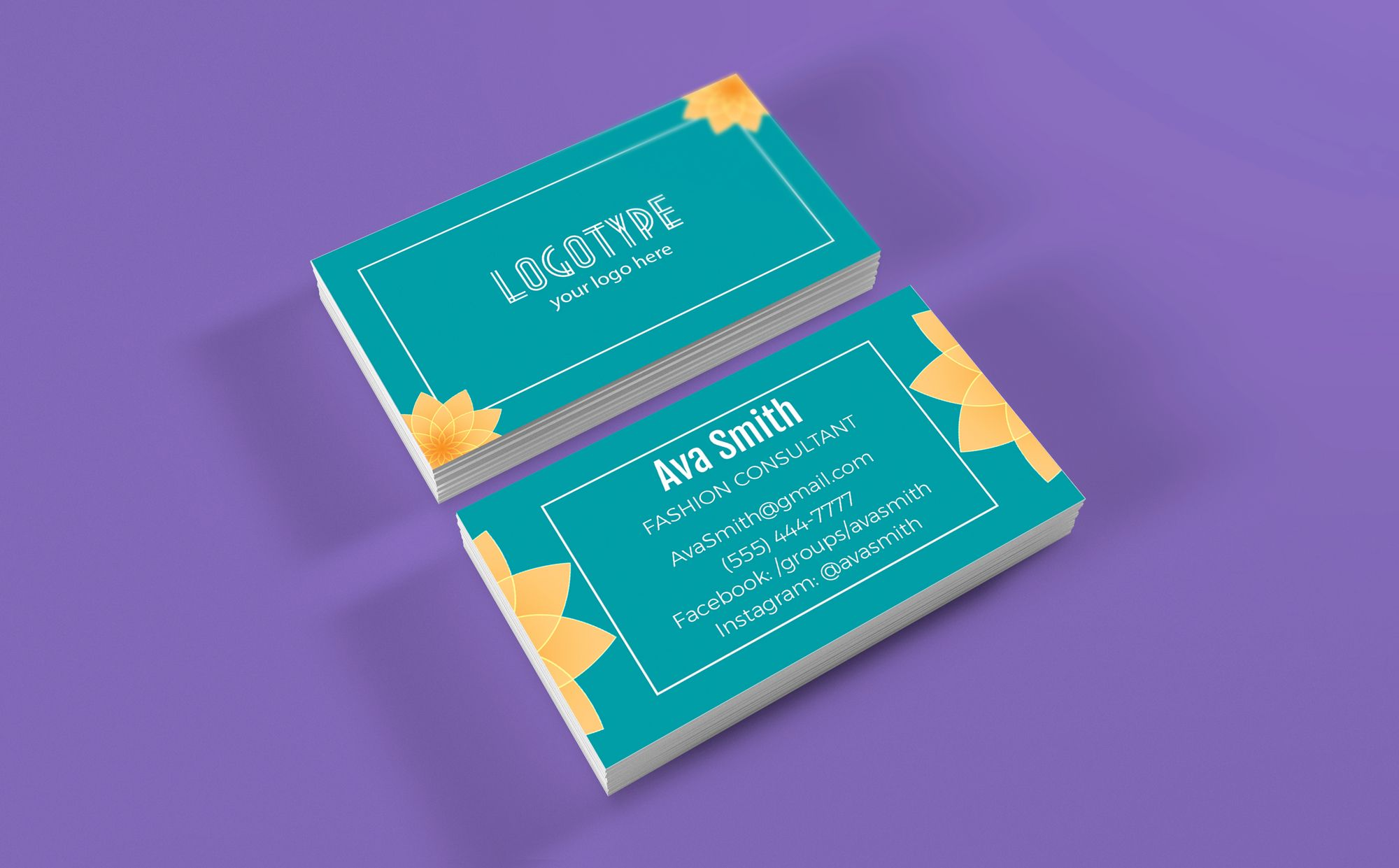 lotus flower business cards free personalize for independent