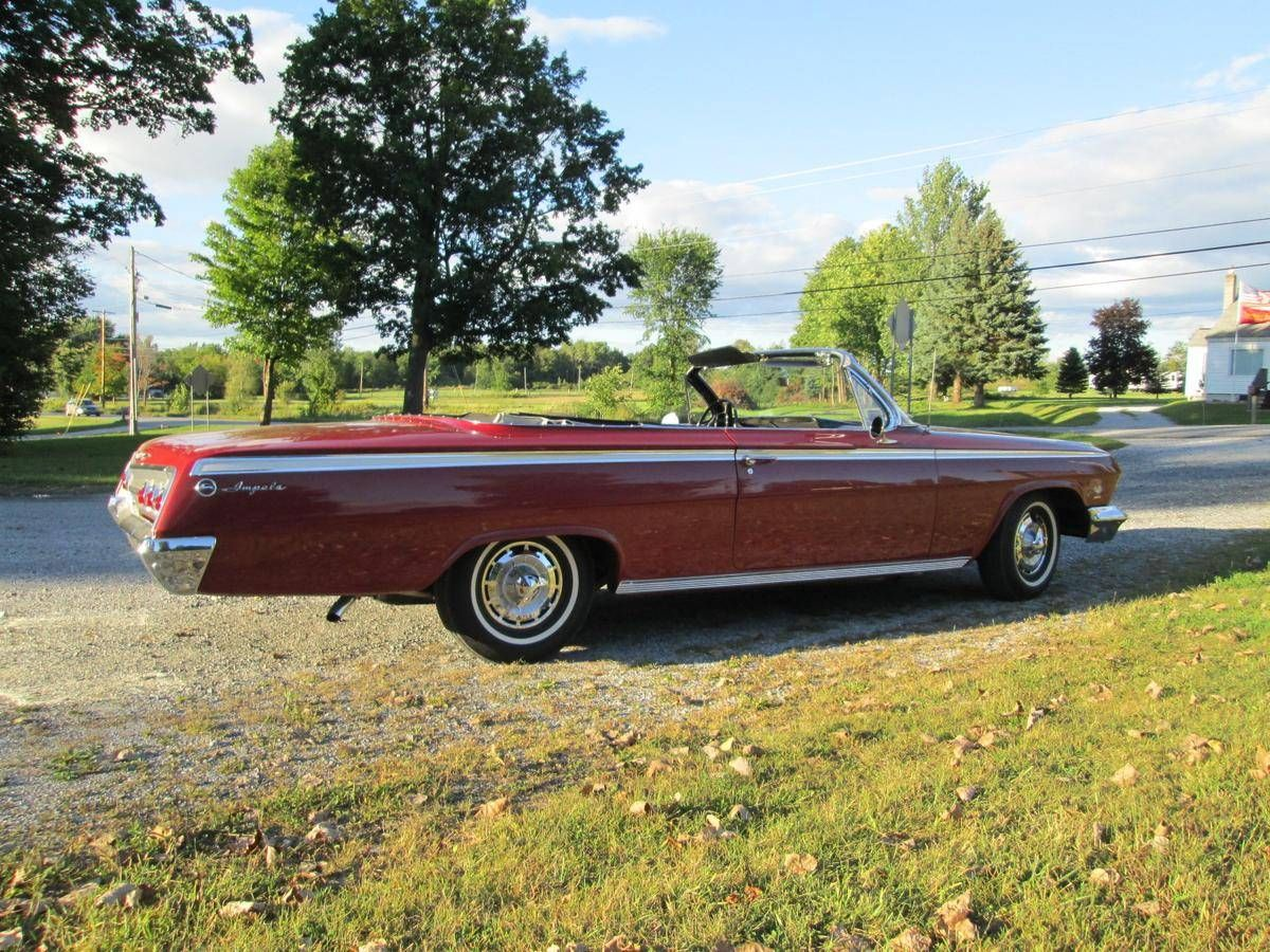 Convertible 62 chevy impala ss convertible for sale : 1962 Chevrolet Impala convertible, red exterior, top down ... Very ...