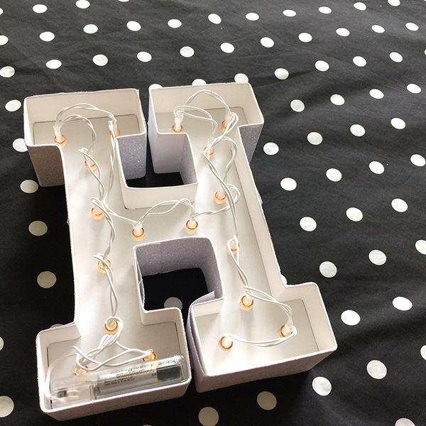 H letras iluminadas para decorar http mitiendadearte - Letras para decorar ...